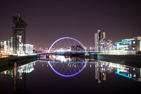 Glasgow at night