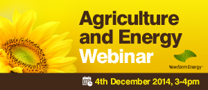 Agriculture and Energy Webinar